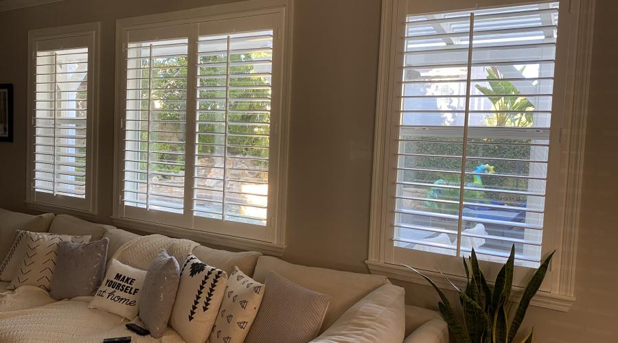SHUTTERS MOUNTED INSIDE EXISTING CASING WITH SILLS